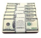 доллары стога Стоковое фото RF