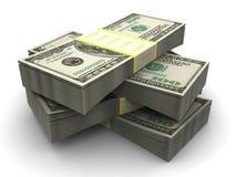 доллары стога иллюстрация вектора