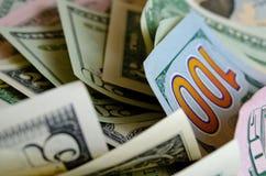 Доллары США наличных денег стоковые изображения