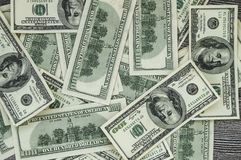 Доллары США, США $ 100, старые и новые 100 изображений доллара, больших изображения доллара в различных концепциях для финансов и Стоковые Изображения RF