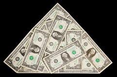 доллары формы пирамидки Стоковая Фотография