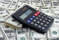 доллары чалькулятора Стоковые Фотографии RF