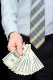 доллары человека Стоковые Фотографии RF