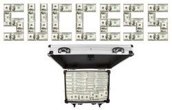 доллары чемоданов изображения Стоковые Изображения