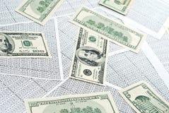 доллары электронных таблиц Стоковое Изображение