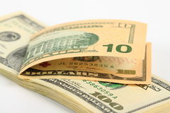 доллары 10 Стоковое Фото