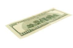 доллары 100 изолировали одно стоковая фотография rf