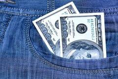 доллары 100 карманн 2 Стоковая Фотография