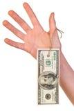 доллары 100 одного бирки Стоковая Фотография