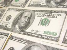доллары 100 предпосылки Стоковое Изображение