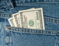доллары 100 3 Стоковое Изображение