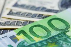 доллары 100 Стоковое Изображение RF