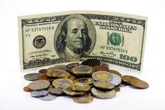 доллары 100 Стоковая Фотография RF
