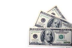 доллары 100 3 стоковая фотография