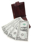 доллары 5 продолжают Стоковые Изображения RF