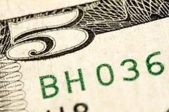 доллары 5 Стоковые Изображения