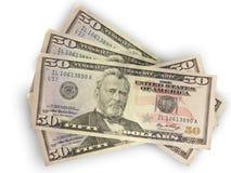 доллары 50 Стоковое Изображение