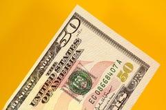 доллары 50 стоковое изображение rf