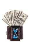 доллары hourglass Стоковые Фото