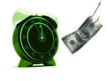 доллар будильника иллюстрация вектора