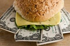 доллар бургера Стоковая Фотография