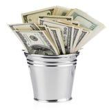 доллар ведра Стоковая Фотография