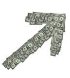 доллар вниз стоковая фотография