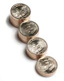 доллар Георге Шасюингтон 12 монеток Стоковые Изображения RF