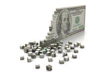 Доллар головоломки иллюстрация штока