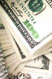 доллар диамантов детали счетов Стоковое Изображение