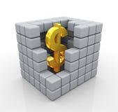доллар золотистый Стоковые Фотографии RF