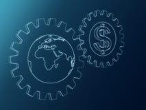 Доллар и глобус Стоковое фото RF
