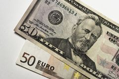 Доллар и евро Стоковые Изображения RF