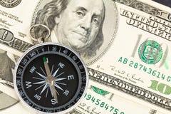 доллар компаса Стоковые Изображения RF