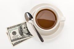 доллар кофе Стоковые Изображения RF