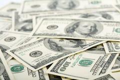 доллар кредиток предпосылки Стоковые Фотографии RF