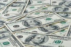 доллар кредиток предпосылки Стоковое Изображение
