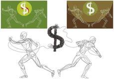 доллар кризиса иллюстрация штока