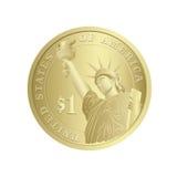 доллар монетки Стоковая Фотография