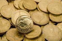 доллар Новая Зеландия предпосылки Стоковая Фотография