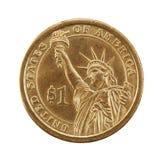 доллар одно монетки Стоковое Изображение RF