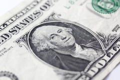 доллар одно счета Стоковое Изображение