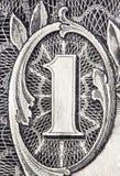 доллар одно счета Стоковые Фотографии RF