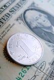 доллар одно yuan Стоковые Фотографии RF