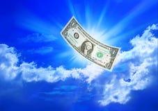 доллар понижаясь одно Стоковые Изображения