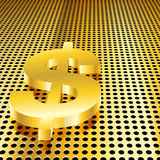 доллар предпосылки золотистый Иллюстрация вектора