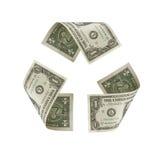 доллар рециркулирует символ мы Стоковое Изображение RF