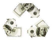 доллар рециркулируя символ Стоковое Изображение