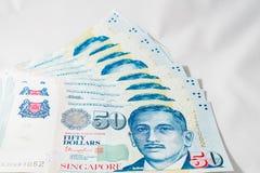 Доллар Сингапура, банкнота Сингапур на белой предпосылке Стоковое Изображение RF