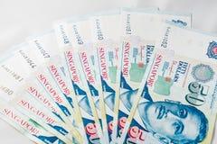 Доллар Сингапура, банкнота Сингапур на белой предпосылке Стоковая Фотография RF